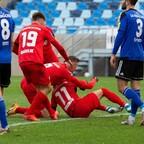 Redondo und Pourié bejubeln die zwischenzeitliche 1:0 Führung gegen Saarbrücken