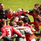 Rote Teufel: Jubelstimmung über den 2:1 Derbysieg