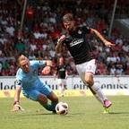 FCK-Stürmer Lukas Spalvis könnte demnächst wieder auf dem Platz stehen